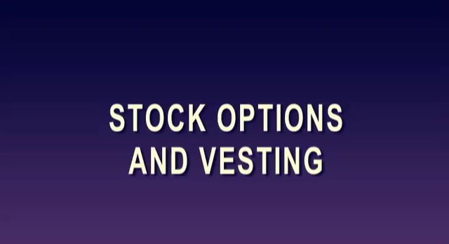 Stock options vesting period