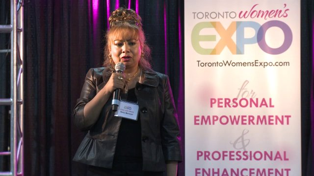 "Molly Banerjei, ""My Canadian Dream"", Toronto Women's Expo, Downsview Park, Studio 3"