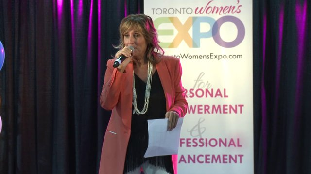 "Suzanne Letourneau, ""Embrace the Real You and Be Free"", Toronto Women's Expo, Downsview Park, Studio 3"