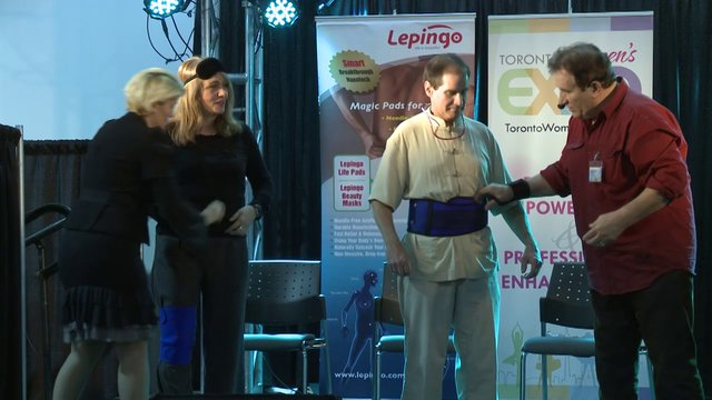 "Mark Ming, ""Lepingo, Weight-loss, Pain Relief and Face-lifting Tips"", Toronto Women's Expo, Downsview Park, Studio 3"