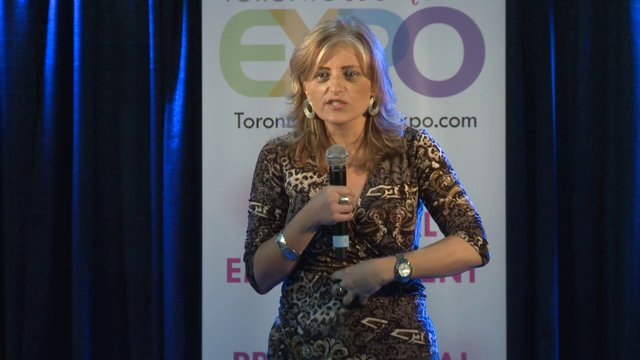 Katia Millar, Founder of Positive Fabulous Women, Toronto Women&#039;s Expo, Downsview Paek, Studio 2, December 2, 2012