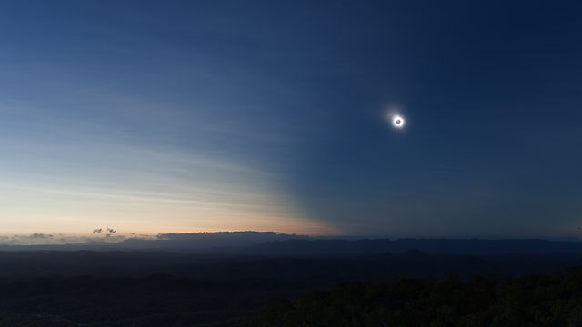 The Sweeping Shadow - Total Solar Eclipse, Nov 14 2012,The Granite, FNQ, Australia.
