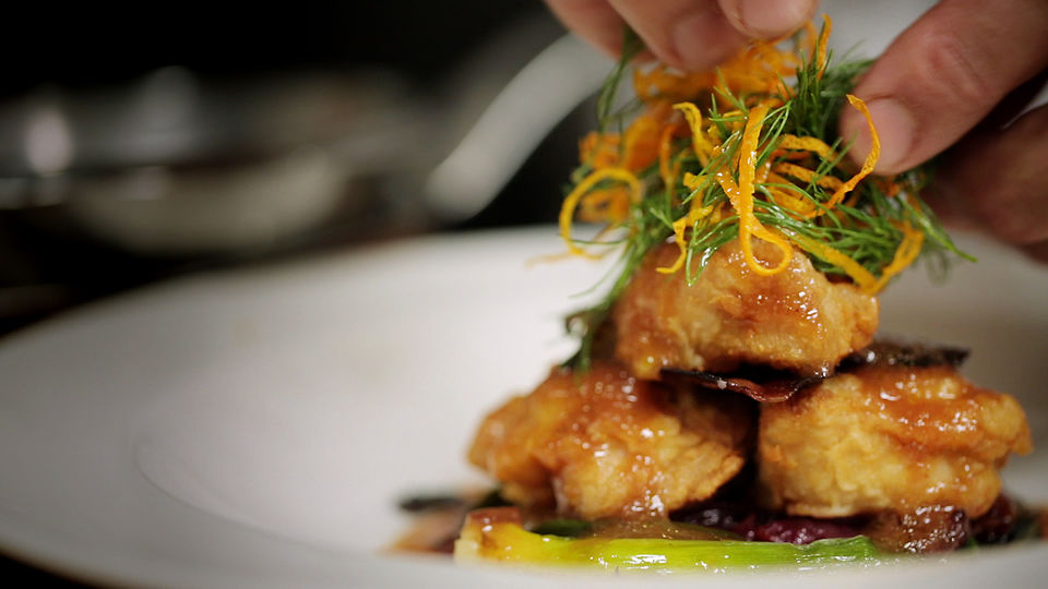 Mario Batali Presents: Babbo Ristorante &#8211; Fennel Dusted Sweetbreads