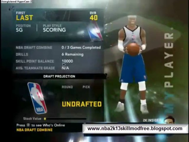 How to Hack NBA 2K13 My Player Skill Points - Tutorial