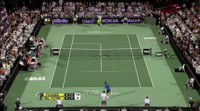 Federer vs Del Potro - Double Tweener Rally - 2012-12-13