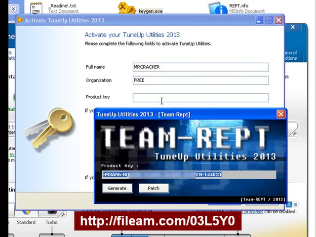 TuneUp Utilities 2013 Serial Key and Keygen by REPT