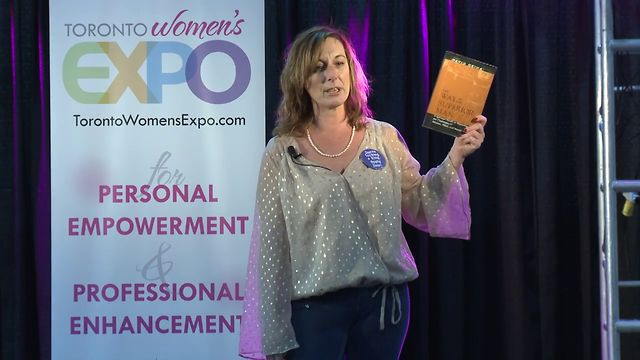 "Julie Ward,"" From Business Mom to Bedroom Siren"", Toronto Women's Expo, Downsview Park, Studio 3, December 1, 2012"