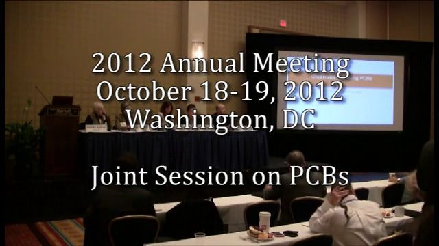 2012 Annual Meeting - Joint Session on PCBs