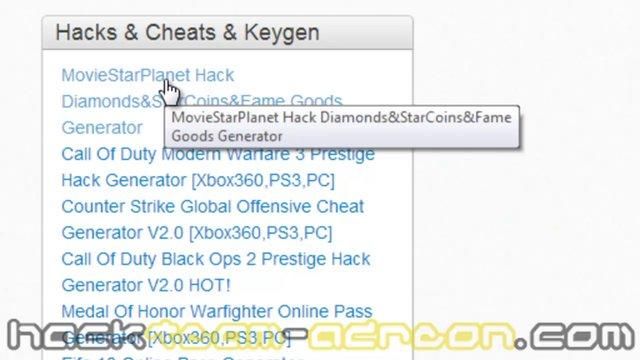 MovieStarPlanet Hack Goods Generator [Update]