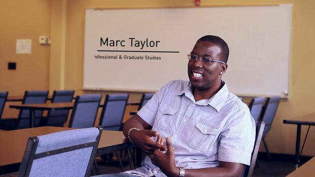 Marc Taylor - Graduate and Adult Studies at MNU