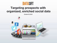 Webinar: Targeting prospects with organized, enriched social data