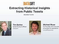 Webinar: Extracting Historical Insights from Public Tweets