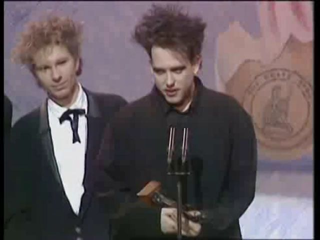 THE CURE 'LULLABY' VID BRIT AWARD FOR 'LULLABY' VIDEO, 1990
