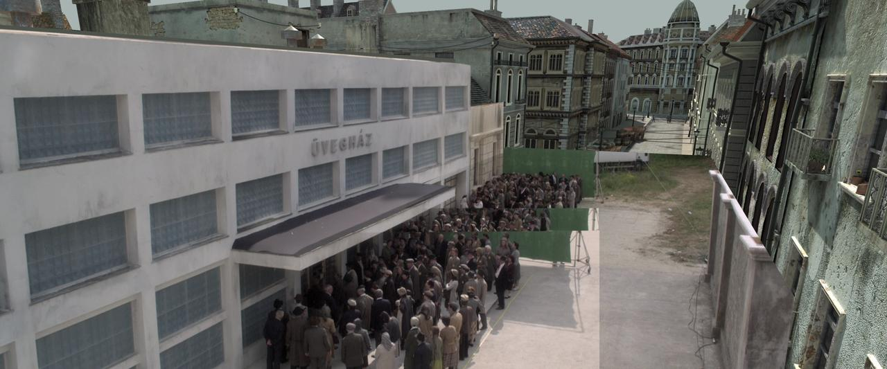 Snippets: compositing an outdoor crowd in a virtual WW2 environment