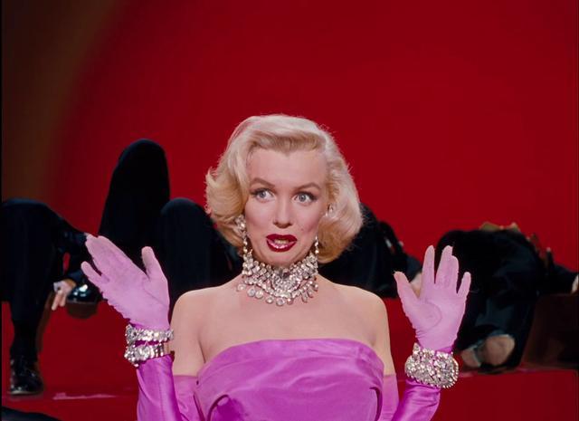 """Marilyn Monroe: """"Diamonds Are a Girl's Best Friend,"""" from Gentlemen Prefer Blondes (1953)."""