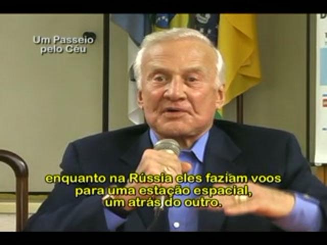 "Astronaut Buzz Aldrin - Press Meeting - Entrevista Coletiva - Second Part - Special Program ""Um Passeio pelo Céu"""