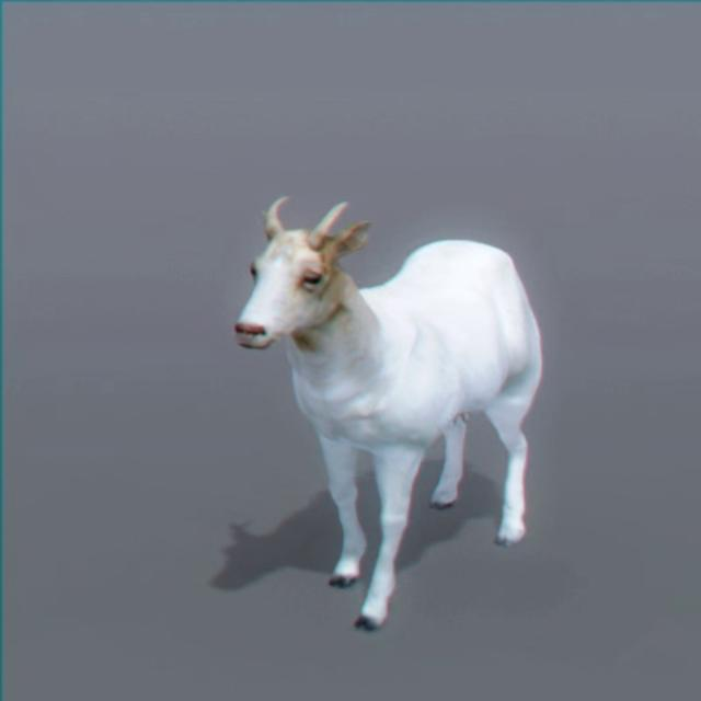 Goat 3d model by nonecg