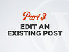 Editing an existing WordPress post