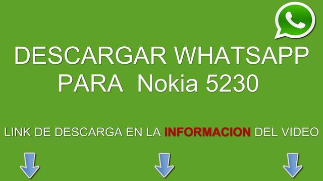 descargar whatsapp para nokia 5230 gratis en espanol