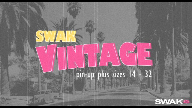 SWAK Vintage Pin-Up Plus in Sizes 14 - 32 by SWAK Designs