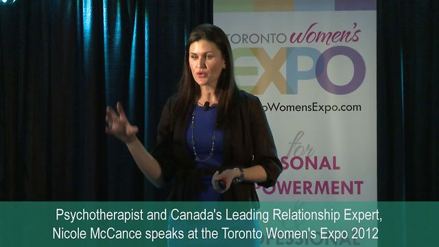 "Nicole McCance, ""Need a Mood Boost?"", Toronto Women's Expo, Downsview Park, Studio 3, December 2, 2012"