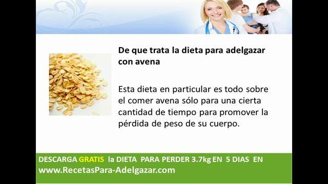 dieta para adelgazar con avena on Vimeo