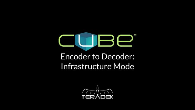 Encoder to Decoder Infrastructure Networking