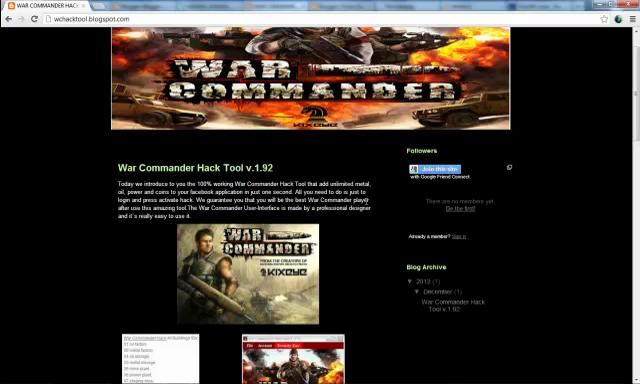Hack For War Commander No Survey 2012