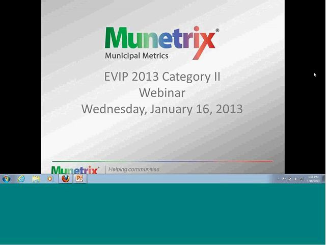 Webinar - EVIP 2013 Category 2 - January 16, 2013