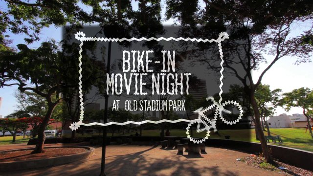 Bike-In Movie Night Old Stadium Park, Honolulu