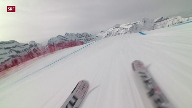 Lauberhorn Downhill with GyroSkicam 2013