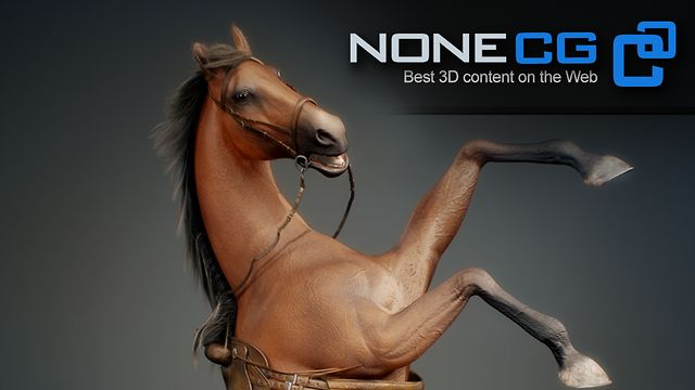 Horse 3D Model by NoneCG