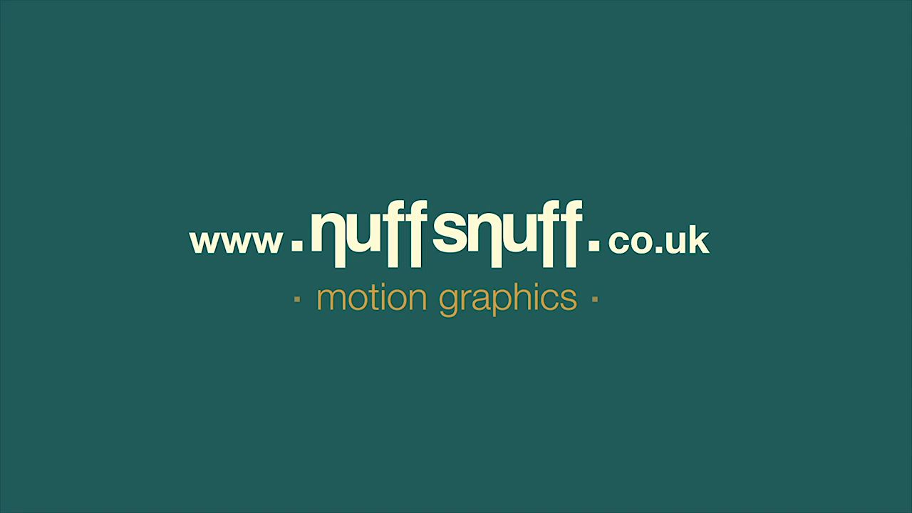 Nuffsnuff Motion Graphics Showreel 2013
