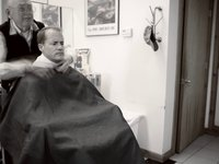 Russ Kerr's Mill Valley barbershop