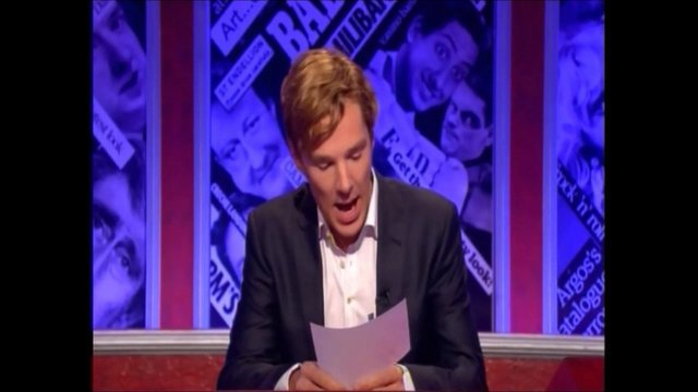 Benedict Cumberbatch hosting Have I Got News For You (part 1)