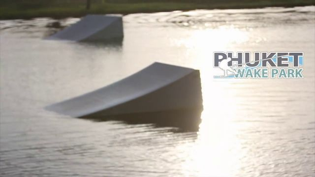 Russian wakeskater Alex Tsibizov in Phuket Wake Park