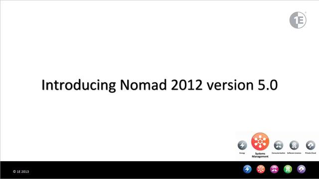 Introducing Nomad 2012 version 5.0