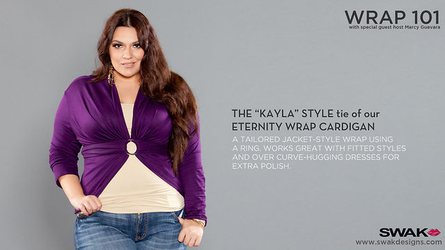 "SWAK Designs Wrap 101 - The ""Kayla"" Style for our Eternity Convertible Cardigan"