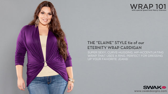 "SWAK Designs Wrap 101 - The ""Elaine"" Style for our Eternity Convertible Cardigan"
