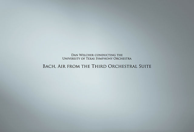 Bach, Air from the Third Orchestral Suite