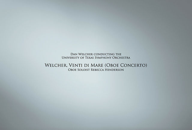 Welcher, Venti di Mare (Oboe Concerto)
