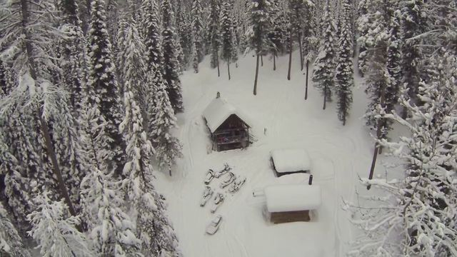Flying the Multirotor and Gopro 3 over Ninko Cabin