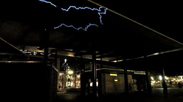Electrified Sky, Public Art Video Installation (Documentation), Georgie Friedman, 2012