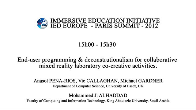 End-user programming & deconstrutionalism for collaborative mixed reality laboratory co-creative activities