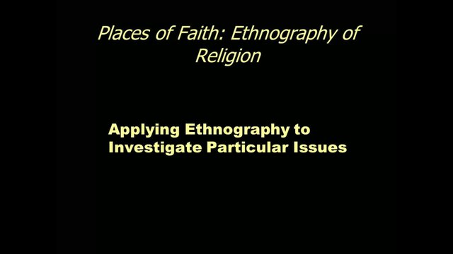 Applying Ethnography