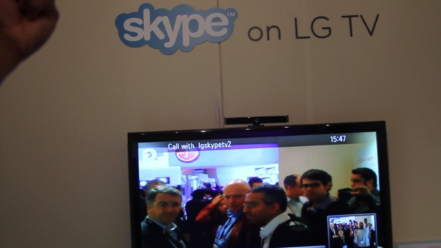 Skype LG TV at CES 2010 on Vimeo