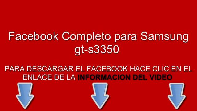 descargar facebook gratis para samsung gt-s3350