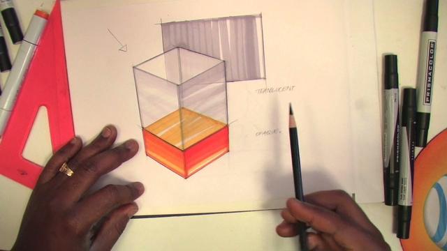 Idsketching com transparent cube