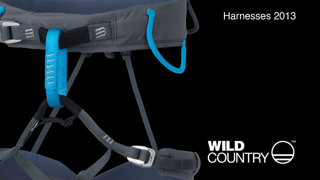 James Pearson shows off  the all new 2013 Wild Country harness range...