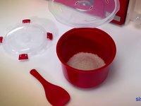 rice steamer microwave sistema plastics. Black Bedroom Furniture Sets. Home Design Ideas